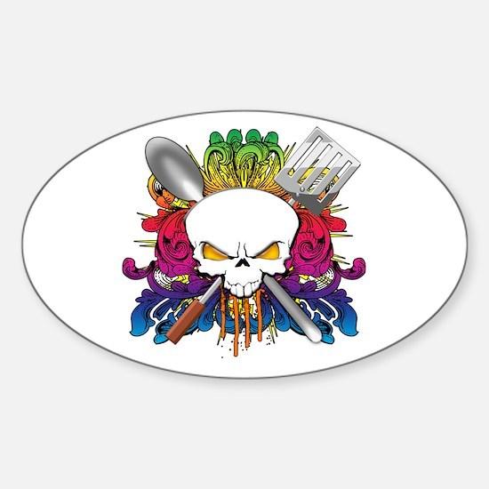 Chef Skull Sticker (Oval)