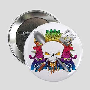 """Chef Skull 2.25"""" Button"""