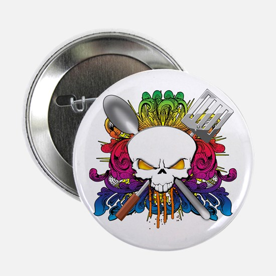 "Chef Skull 2.25"" Button"
