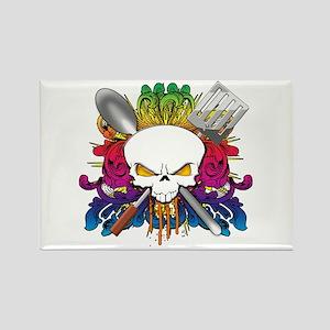 Chef Skull Rectangle Magnet