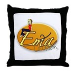 Em²a Cartoon Throw Pillow