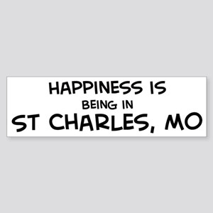 Happiness is St. Charles Bumper Sticker