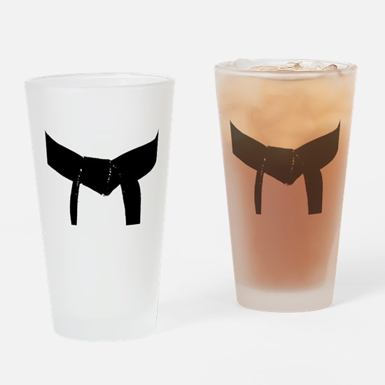 Martial Arts Black Belt Drinking Glass