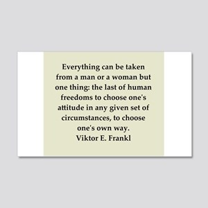 Viktor Frankl quote 22x14 Wall Peel