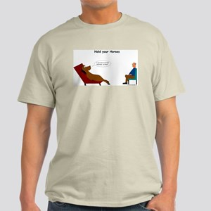 Hold your horses colored shirt