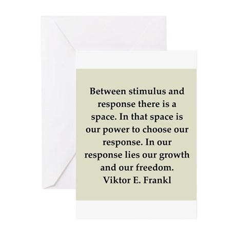 Viktor Frankl quote Greeting Cards (Pk of 20)