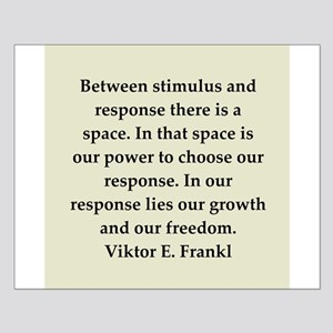 Viktor Frankl quote Small Poster