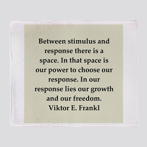 Viktor Frankl quote Throw Blanket