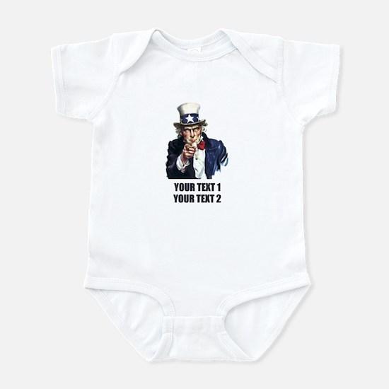 [Your text] Uncle Sam Infant Bodysuit