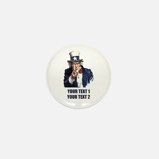 [Your text] Uncle Sam Mini Button (10 pack)