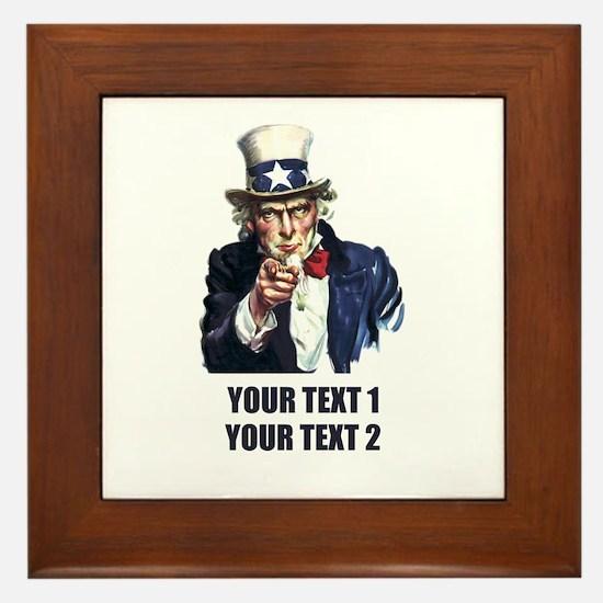 [Your text] Uncle Sam Framed Tile
