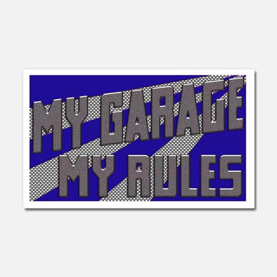 My Garage, My Rules Car Magnet 20 x 12