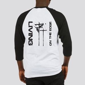 Lineman Living on the Edge Baseball Jersey