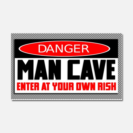 Danger Man Cave Car Magnet 20 x 12