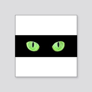 Green Cat Eyes 10x3 Sticker Sticker