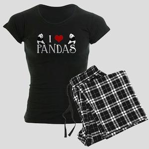 I Heart Pandas Women's Dark Pajamas