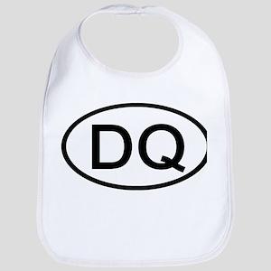 DQ - Initial Oval Bib