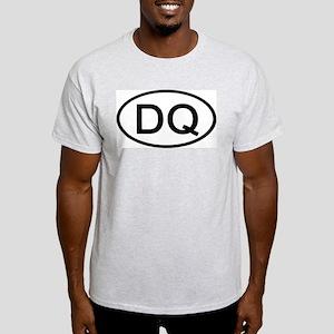 DQ - Initial Oval Ash Grey T-Shirt