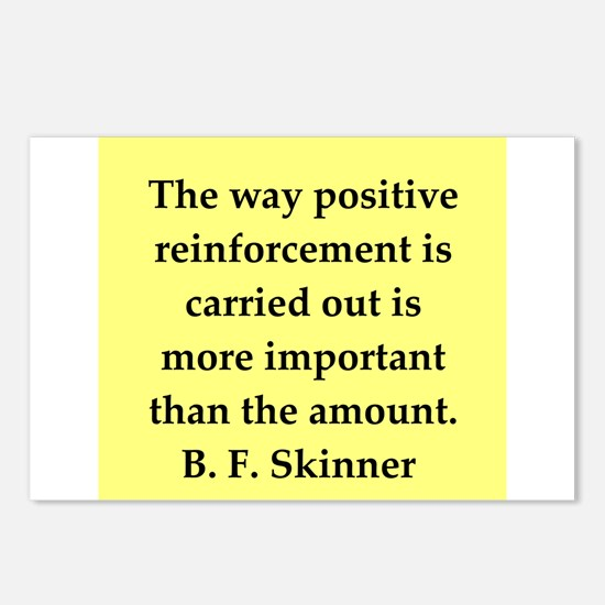 b f skinner quote Postcards (Package of 8)