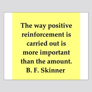 b f skinner quote Small Poster