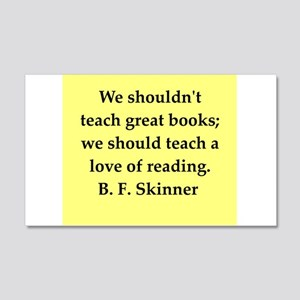 b f skinner quote 22x14 Wall Peel