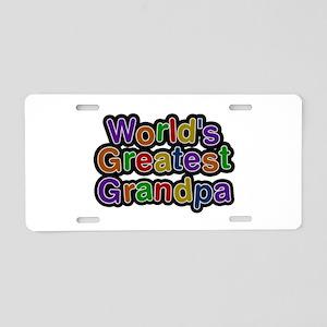 World's Greatest Grandpa Aluminum License Plate