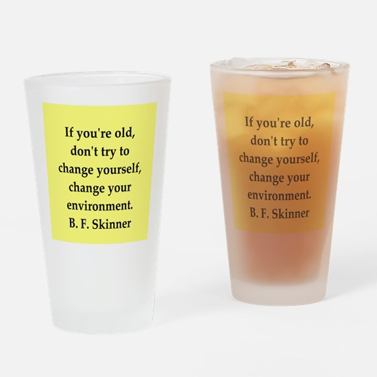 b f skinner quote Drinking Glass