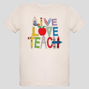 Live Love Teach Organic Kids T-Shirt