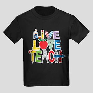 Live Love Teach Kids Dark T-Shirt