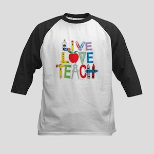 Live Love Teach Kids Baseball Jersey