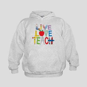 Live Love Teach Kids Hoodie
