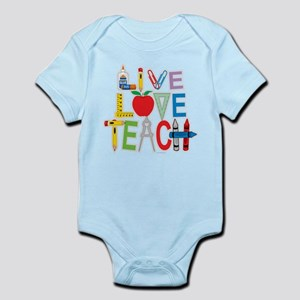 Live Love Teach Infant Bodysuit