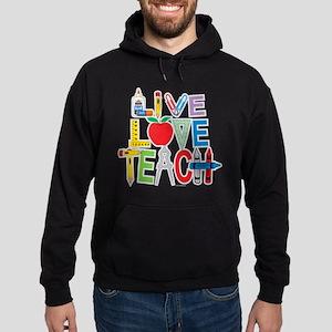 Live Love Teach Hoodie (dark)