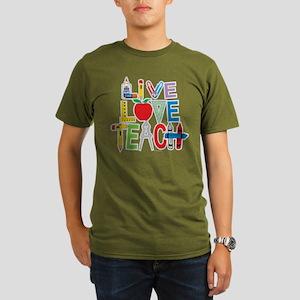 Live Love Teach Organic Men's T-Shirt (dark)