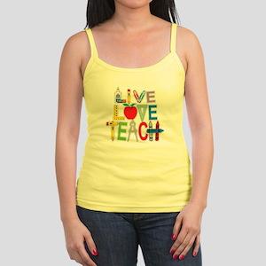 Live Love Teach Jr. Spaghetti Tank