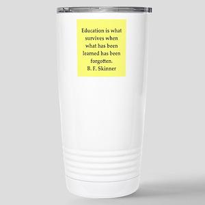 b f skinner quote Stainless Steel Travel Mug