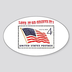 Love America Oval Sticker