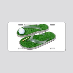 Golf_Shoes_Ball_Tee Aluminum License Plate