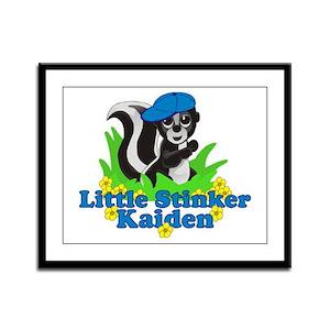 Little Stinker Kaiden Framed Panel Print