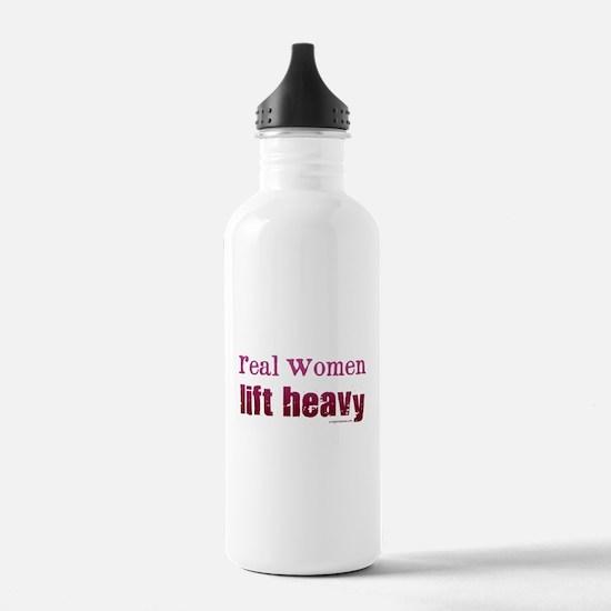 Real women lift heavy Sports Water Bottle