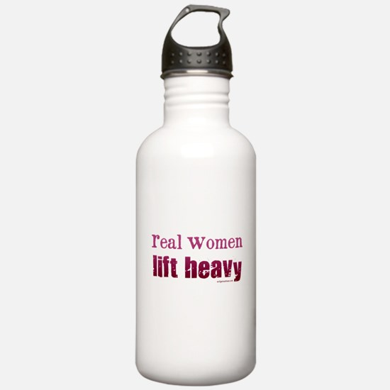 Real women lift heavy Water Bottle