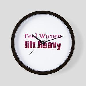 Real women lift heavy Wall Clock