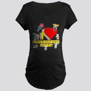 I Heart Schoolhouse Rock! Maternity Dark T-Shirt