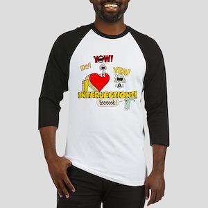 I Heart Interjections Baseball Jersey