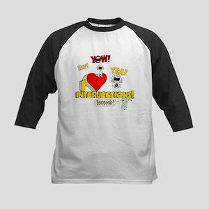 I Heart Interjections Kids Baseball Jersey