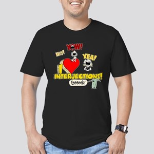 I Heart Interjections Men's Fitted T-Shirt (dark)