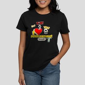 I Heart Interjections Women's Dark T-Shirt