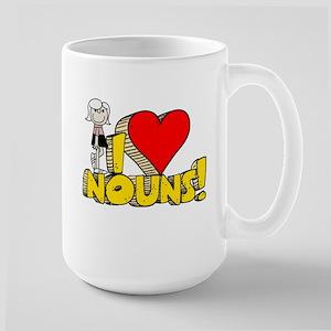 I Heart Nouns - Schoolhouse Rock! Large Mug