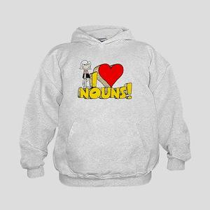 I Heart Nouns - Schoolhouse Rock! Kids Hoodie