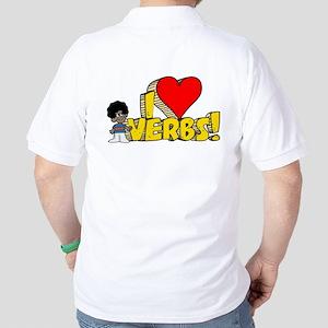 I Heart Verbs - Schoolhouse Rock! Golf Shirt